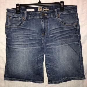 Kut Catherine boyfriend stretch jean shorts sz 10